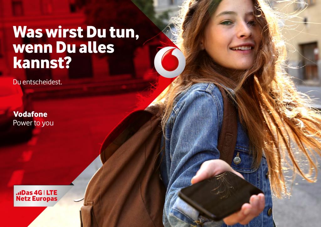 Was wirst Du tun, wenn du alles kannst?   Vodafone.